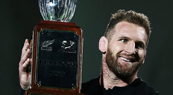 New Zealand skipper Kieran Read is an inspirational leader