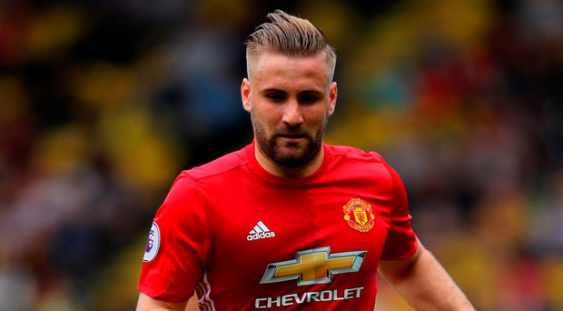 Manchester United's Luke Shaw. Photo: Richard Heathcote/Getty Images