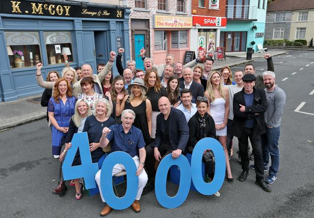The cast of Fair City celebrate 4,000 episodes of the soap