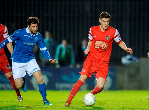 Cork City's Garry Buckley in action against Finn Harps' Gareth Harkin. Photo: Oliver McVeigh/Sportsfile
