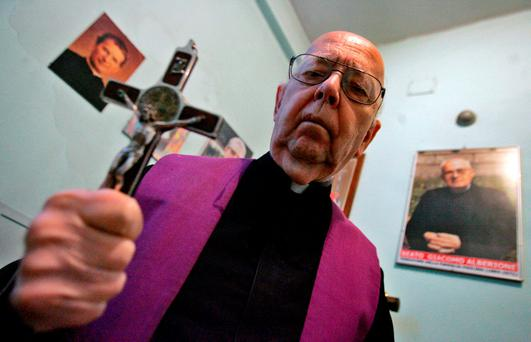 Father Gabriele Amorth, who claimed to have carried out as many as 70,000 exorcisms. Photo: AFP/Getty Images