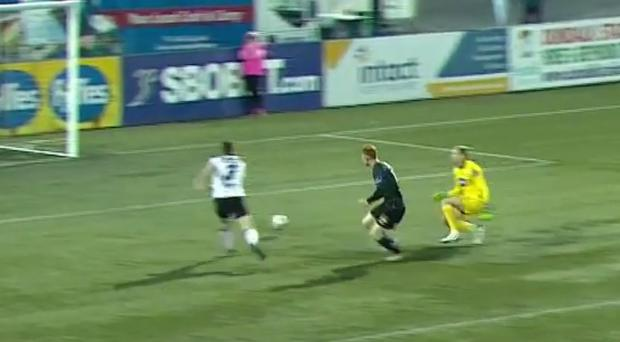 Gary Rogers won't thank Andy Boyle for this pass
