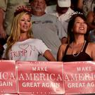Supporters cheer at a rally for Republican presidential nominee Donald Trump at Germain Arena in Estero, Florida. Photo: Getty