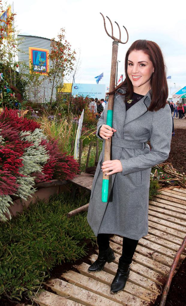 Síle Seoige at the Aldi tent. Photo: Leon Farrell/Photocall Ireland.