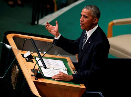 US President Barack Obama cited his outreach to former adversaries Cuba and Myanmar as examples of progress. Photo: Reuters