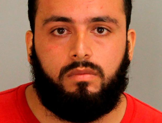 Bombing suspect Ahmad Khan Rahami in his booking photo. Photo: Reuters