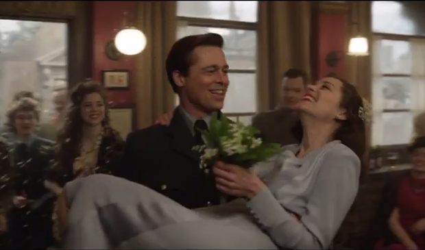 Brad Pitt and Marion Cotillard in Allied. Photo: Paramount Pictures