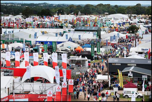 Crowds at the National Ploughing Championships in Screggan, Tullamore Co Offaly. Photo: Steve Humphreys
