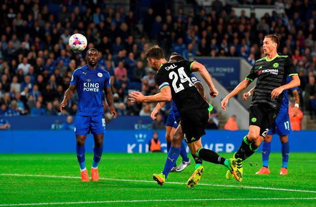 Gary Cahill scores Chelsea's opening goal. Photo: Getty