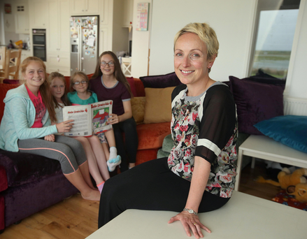 Linda Hogan and her daughters (from left) Lilí (12) Saibh (10), Róise (8) and Éabha (14), who are all bilingual in English and Irish