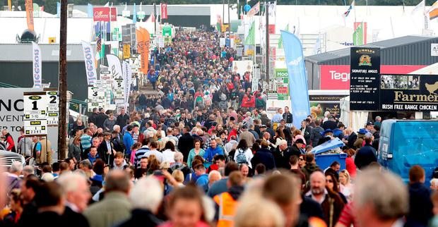 Ploughing 2016. General view of the trade area. Picture; Gerry Mooney