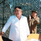 North Korean leader Kim Jung Un supervises a demonstration of a new rocket engine for the geo-stationary satellite at the Sohae Space Center n this undated photo released by North Korea's Korean Central News Agency (KCNA) in Pyongyang September 20, 2016