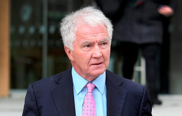 Sean FitzPatrick leaving the Criminal Courts of Justice in May of last year. Photo: Steve Humphreys