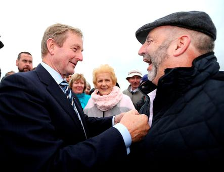 Enda Kenny with Danny Healy Rae. Picture; Gerry Mooney