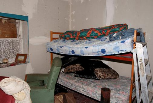 The bedroom in the cottage near Glenties where Donaldson was killed. Photo: North West Newspix