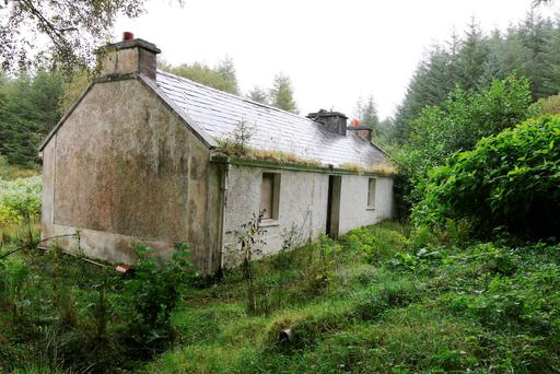 The isolated house at Derryloughan, near Glenties where Denis Donaldson was murdered. (North West Newspix)
