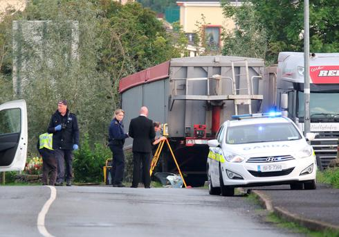 Emergency services at the scene of two fatalities near Ballybofey, Co Donegal. (North West Newspix)
