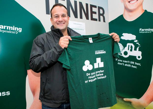 Minister Leo Varadkar TD in the Independent Tent at the Ploughing Champ 2016