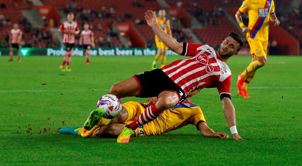 Southampton's Shane Long fouled by Crystal Palace's Martin Kelly for a penalty Action Images via Reuters / Matthew Childs