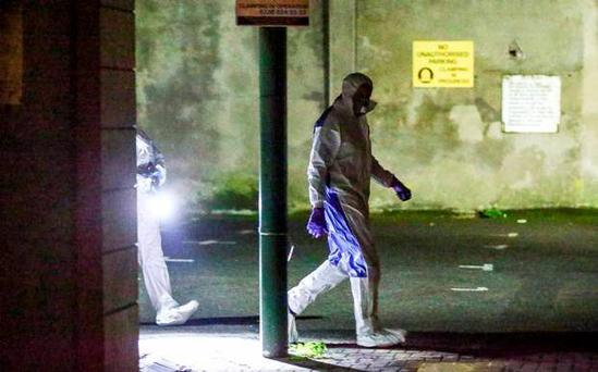 Police and forensic officers at the scene of a Sudden Death in the Donegall street area of Belfast on September 22nd 2016 , Northern Ireland (Photo by Kevin Scott / Belfast Telegraph)