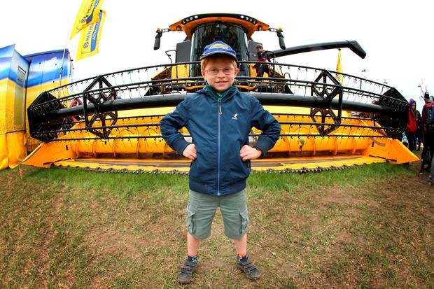 Tomas Bolger, age 8 from New Ross, Co. Wexford pictured at the National Ploughing Championships. Pic. Robbie Reynolds