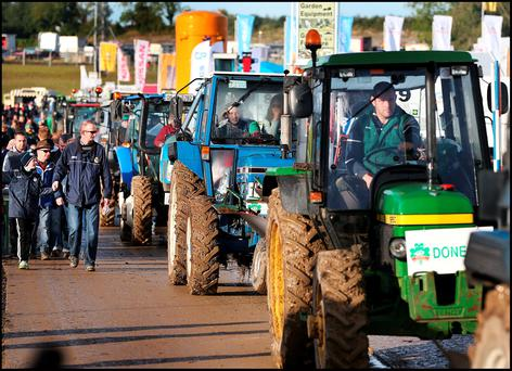 The Parade of Champions at the National Ploughing Championships in Screggan, Tullamore Co Offaly. Photo: Steve Humphreys