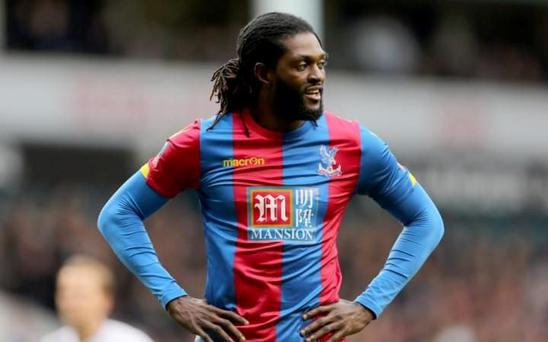 Emmanuel Adebayor is without a club after being released by Crystal Palace