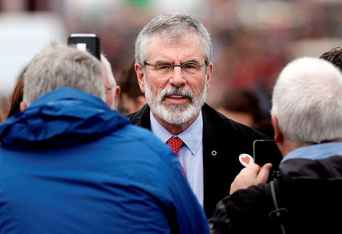 Sinn Féin leader Gerry Adams. Picture; Gerry Mooney