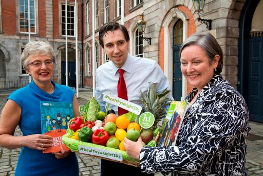 Health Minister Simon Harris with Children's Minister Katherine Zappone and Junior Health Minister Marcella Corcoran Kennedy. Photo: Colin O'Riordan