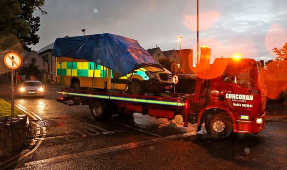 The ambulance is taken away from the scene. Picture Colin Keegan, Collins Dublin.