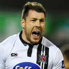 Brian Gartland pleased to be back in contention for a starting place in the Dundalk line-up after suffering a broken wrist. Picture: Sportsfile