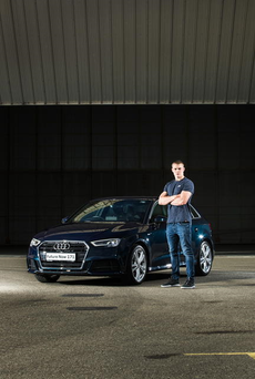 Garry Ringrose (pictured with the new Audi A3 Sportback) has been unveiled as Audi Ireland's newest brand ambassador.