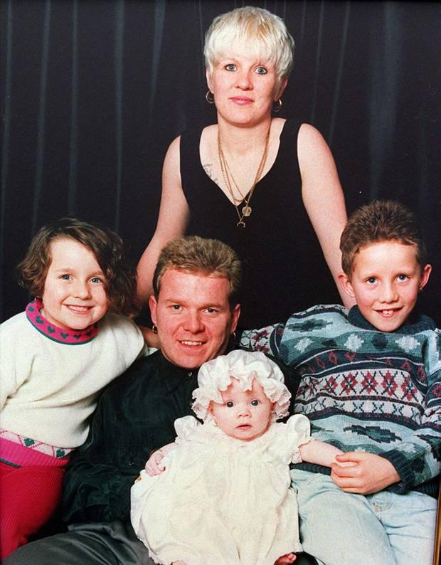UFF terror boss Johnny Adair pictured with his family