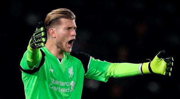 Karius kept a clean sheet on his debut against Derby. Getty