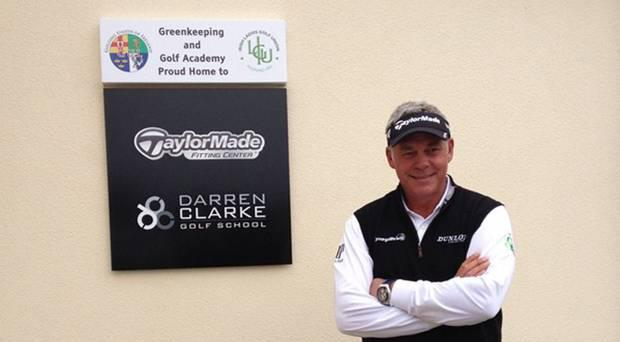 Darren Clarke at the golf school