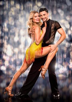 Laura Whitmore with her dance partner Giovanni Pernice as they prepare for this year's Strictly Come Dancing on BBC1. Photo: Jay Brooks/BBC/PA Wire