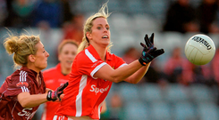 The Cork players have a way of making their actions live up to their intentions and it's backboned by consistency with players like Brid Stack, pictured, Deirdre O'Reilly, Briege Corkery and Rena Buckley, who have started every one of their 10 previous All-Ireland final wins and played every minute of those finals Picture: Sportsfile