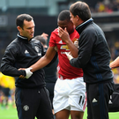 Anthony Martial's head injury may help deal with concussion in professional sport with greater clarity. Picture: Getty Images
