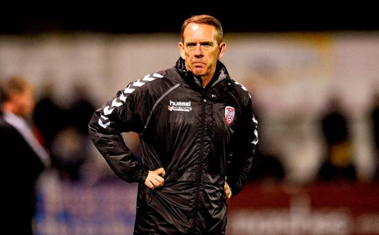 Derry City manager Kenny Shiels. Picture credit: Paul Mohan / SPORTSFILE
