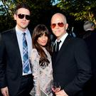 Actors Cory Monteith and Lea Michele and writer/director/producer Ryan Murphy inside the 11th Annual Chrysalis Butterfly Ball in 2012