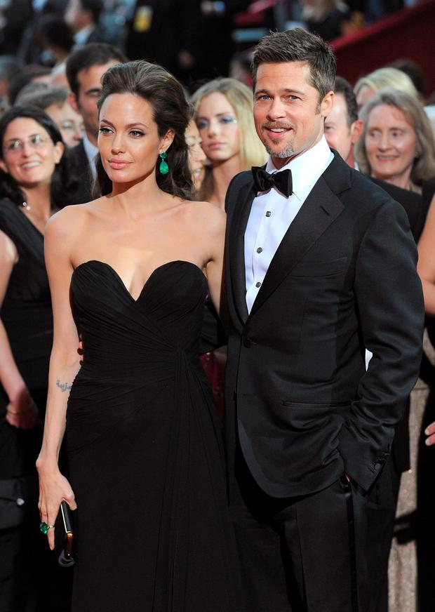 Actors Angelina Jolie and Brad Pitt arrives at the 81st Annual Academy Awards held at The Kodak Theatre on February 22, 2009 in Hollywood, California. (Photo by Jeff Kravitz/FilmMagic)