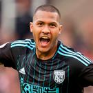 West Bromwich Albion's Salomon Rondon celebrates scoring their first goal Action Images via Reuters / Paul Burrows