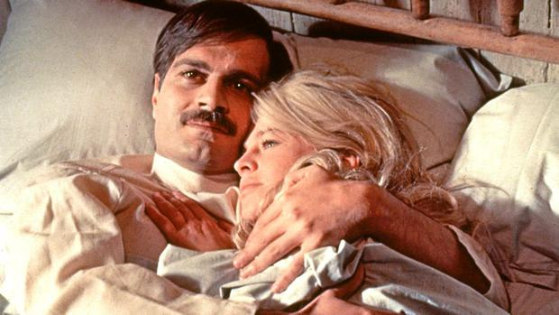 Omar Sharif and Julie Christie in the 1965 film version of Dr Zhivago