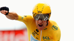 Bradley Wiggins during the Tour de France in 2012. Photo: Bryn Lennon/Getty Images