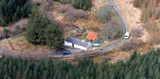 Killing: The cottage where Denis Donaldson was shot dead. Photo: PA