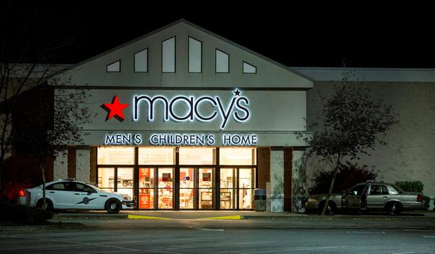 The Macy's store where the shooter opened fire. Photo: AP