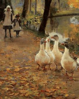 Feast: John Lavery's 'Goose Girls' — Michaelmas is a time to cook the festive bird