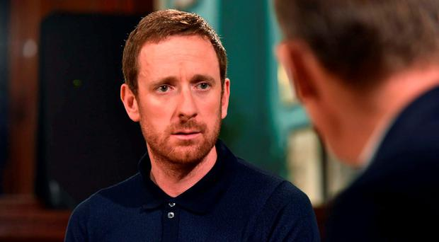 Bradley Wiggins during an interview with Andrew Marr for the the BBC's Andrew Marr Show