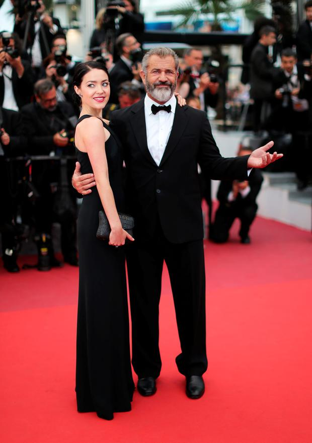 Mel Gibson and Rosalind Ross attend the closing ceremony of the 69th annual Cannes Film Festival at the Palais des Festivals on May 22, 2016 in Cannes, France. (Photo by Neilson Barnard/Getty Images)