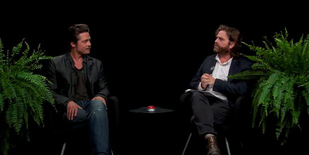 Brad Pitt, with Zach Galifinakis, on Funny or Die's Between Two Ferns in 2014